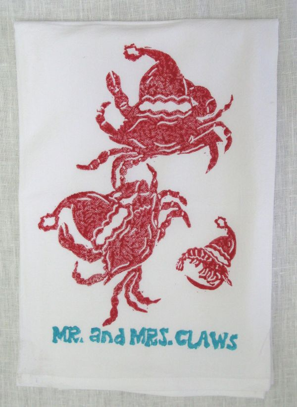Mr and Mrs Claws towel