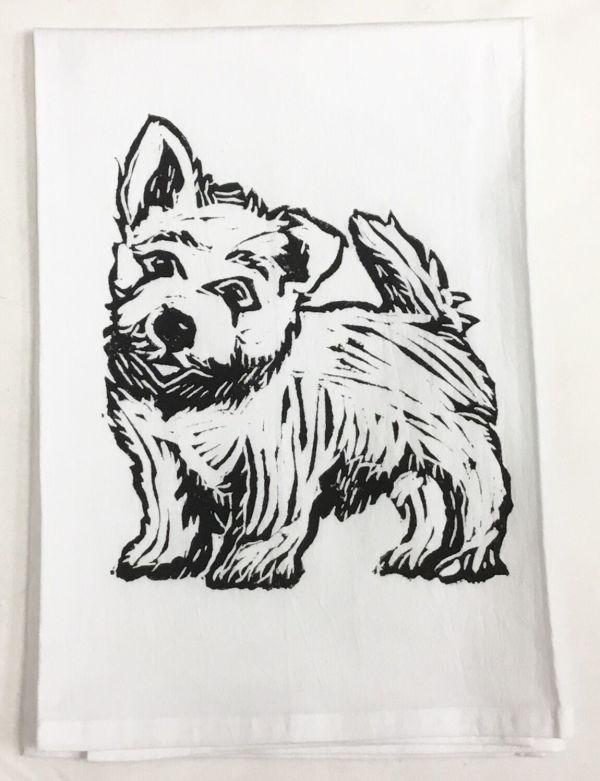 Westie towel