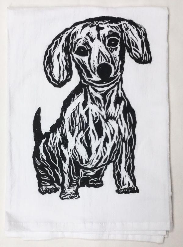 dacshund towel