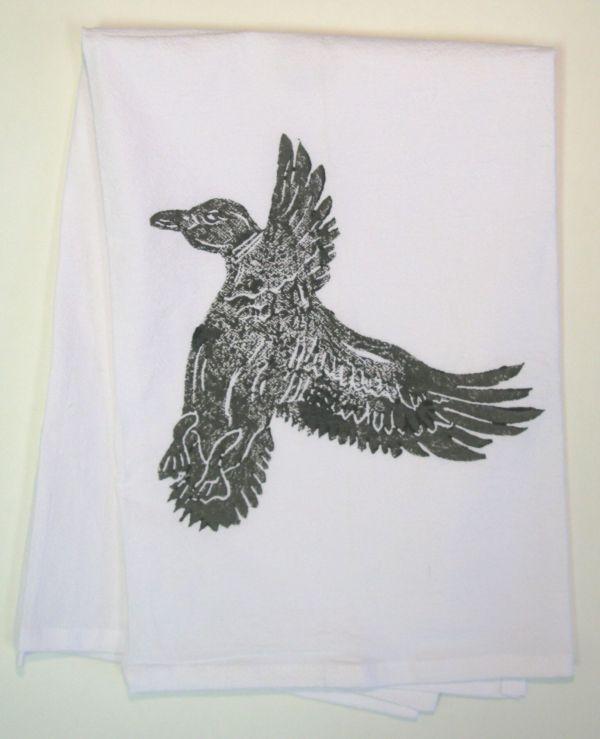 duck in flight towel