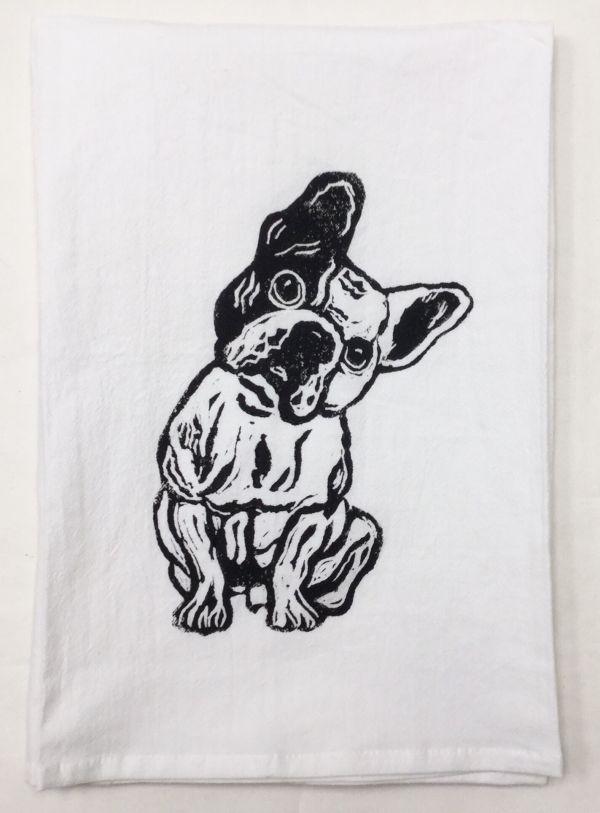 french bulldog towel