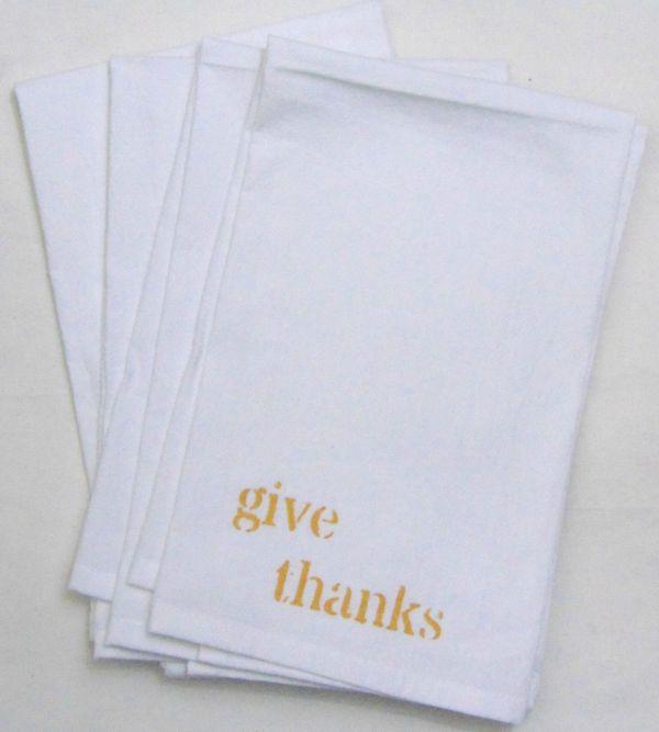 give thanks napkin