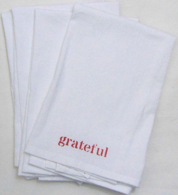 grateful napkin