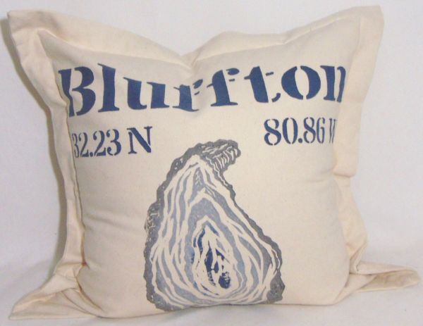 large oyster shell pillow