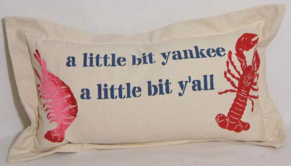 little bit yankee pillow
