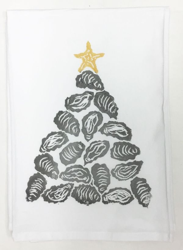 oyster shell tree towel
