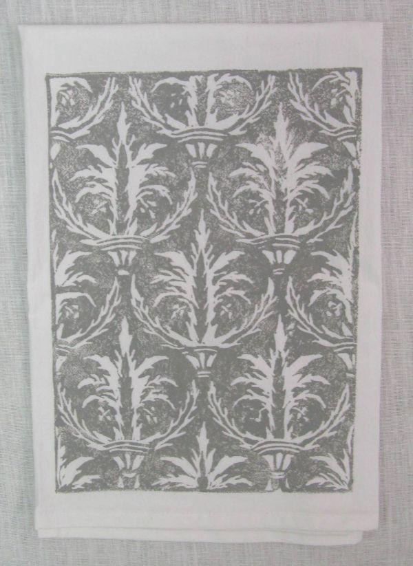 palm damask towel