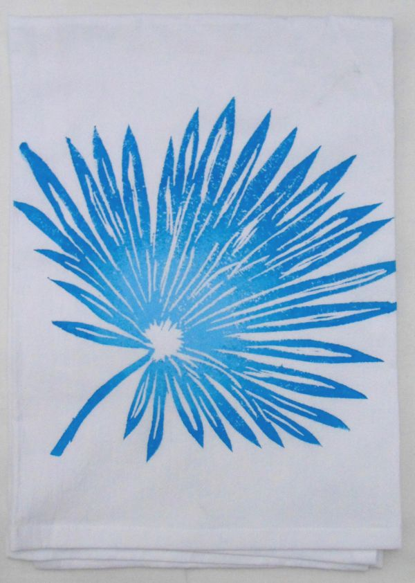 palm frond two tone towel