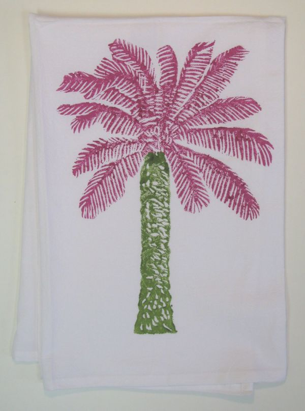 palm tree towel