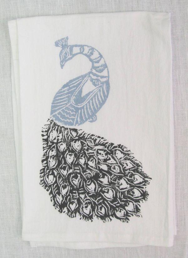 peacock towel