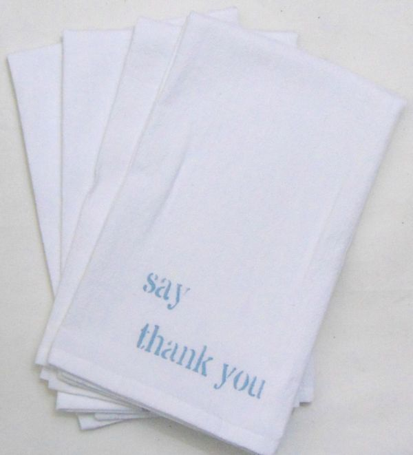 say thank you napkin
