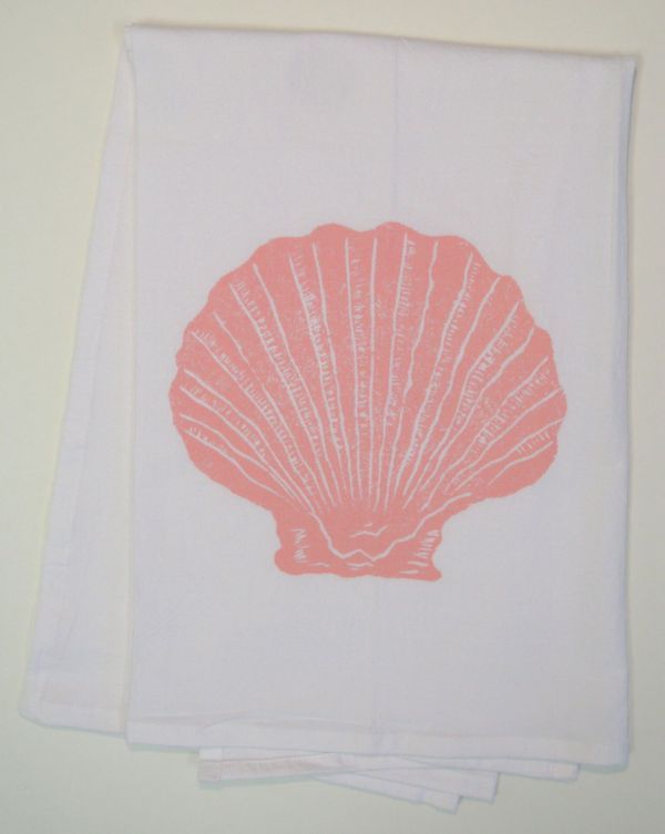 scalloped shell towel