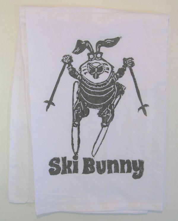 ski bunny towel