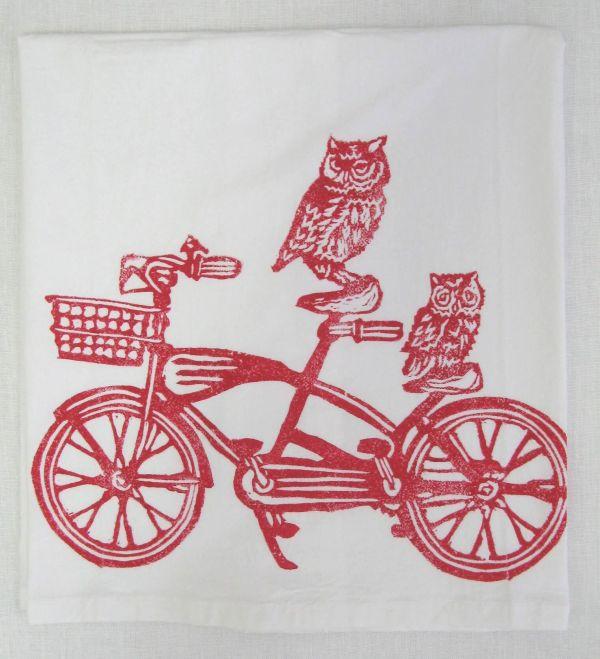 vintage bike towel