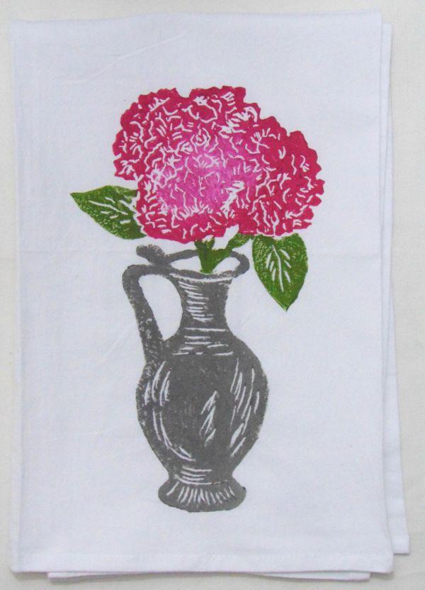 hydrangea bouquet towel 1