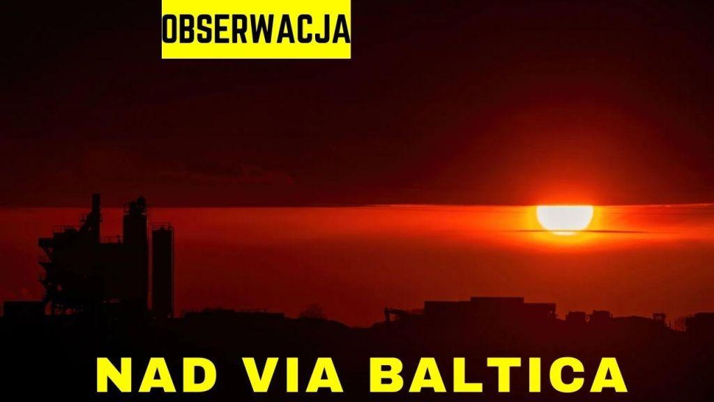 Via Baltica i zachodzące słońce – 13.04.2021