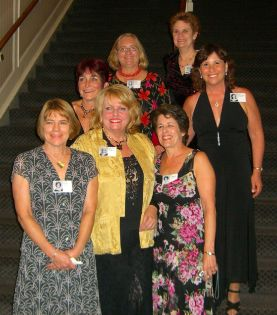 Back: Gael, Catherine, Genie Kaiser, Margie; Front: Elinor Accampo, Shelley Anne Beckes and Lois Levy Matusow