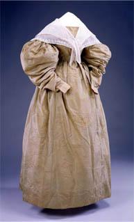 Fischu style pelerine over a gigot sleeve day dress c. 1830, Memorial Hall Museum