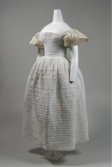 Romantic Period stays, petticoat, and sleeve support c.1830s. Metropolitan Museum of Art, New York.