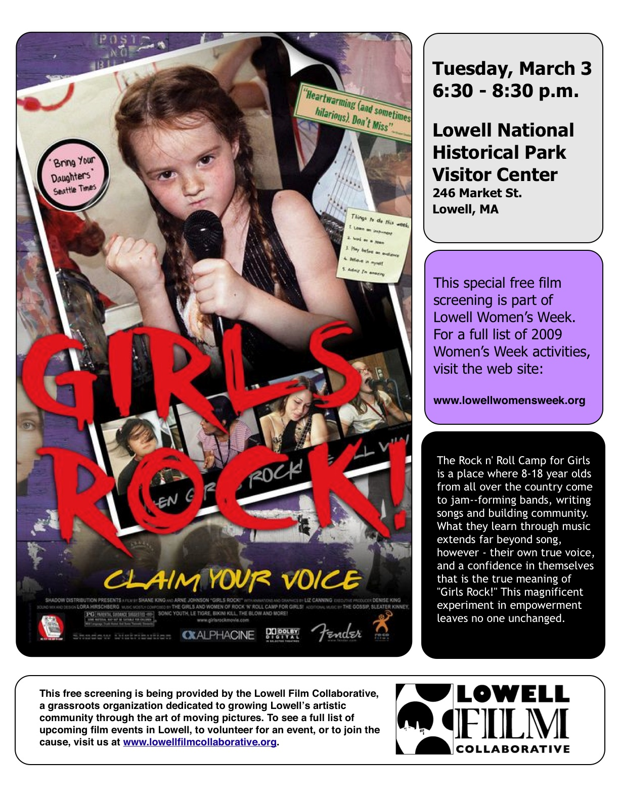 Join us for Girls Rock!