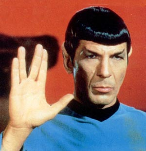 Spock gives us the salute!