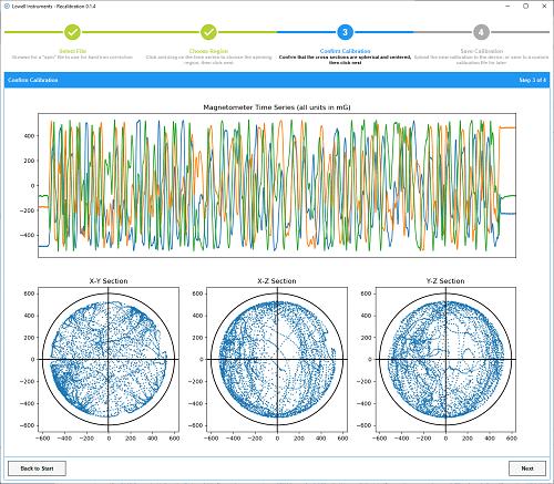 Recalibration Software Screen Shot