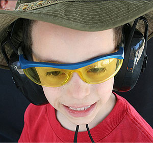 Safety First: eye and ear protection is required on all firearms ranges