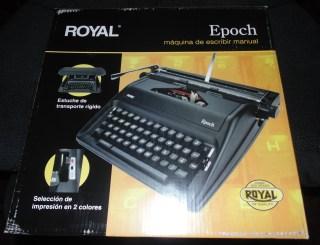 Royal Epoch Manual Typewriter Box