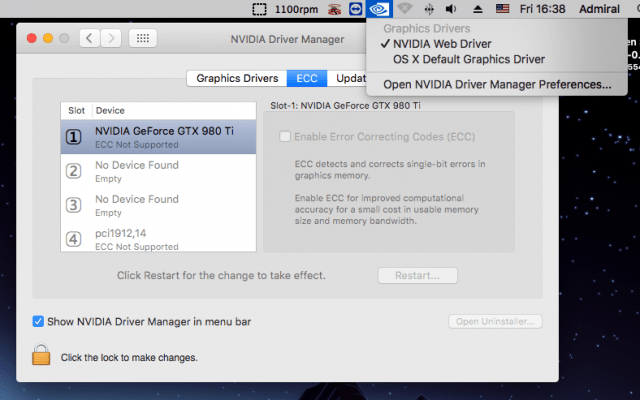 Install an Nvidia GeForce GTX 980 TI in Your Mac Pro 1,1 or 2,1