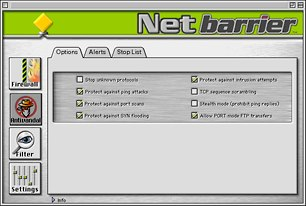 anti-vandal protection in NetBarrier
