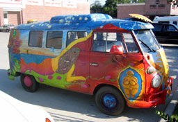 Hand painted VW microbus.