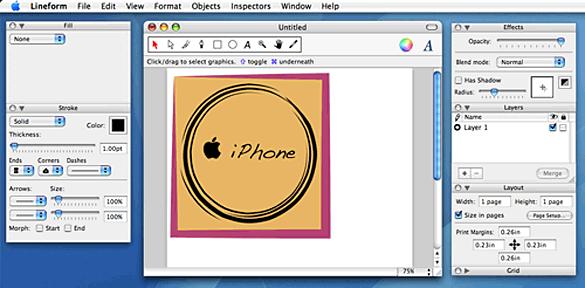 Lineform screen capture