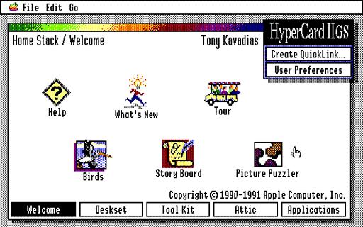 Card in HyperCard IIgs