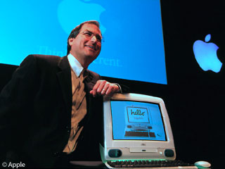 Steve Jobs introduces the original iMac.