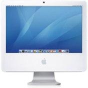 White flat panel iMac