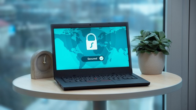 Laptop Secured with Lock