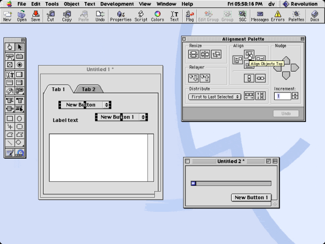 Runtime Revolution on the Classic Mac OS