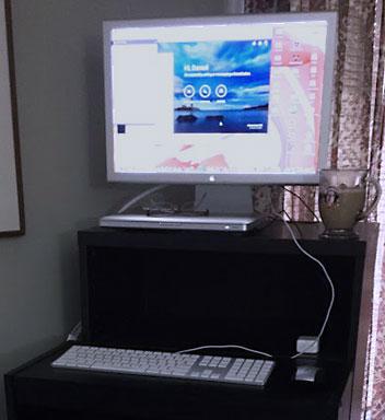 MacBook with Cinema Display