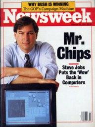 Steve Jobs on cover on Newsweek