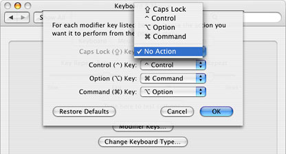 In OS X, you can disable the Caps Lock key.