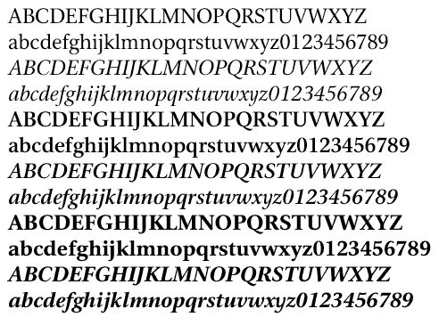 Nu Serif by Marty Pfeiffer