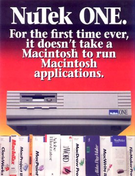 Magazine ad for NuTek One