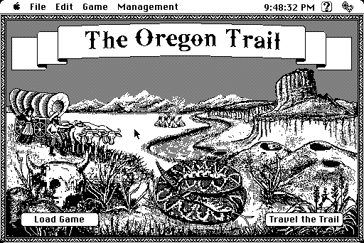 Oregon Trail on Macintosh