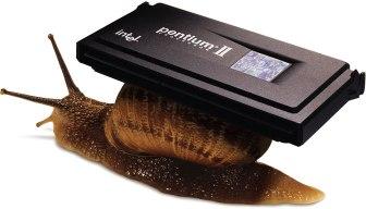 Apple Pentium snail ad
