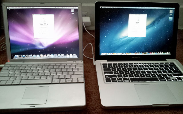 12-inch PowerBook G4 and 13-inch MacBook Pro