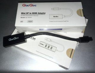 QacQoc Mini DisplayPort to HDMI adapter