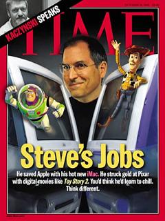 Steve Jobs on Time magazine cover, Oct. 18, 1999