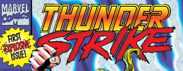 Thunderstrike graphic from comic book