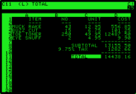 VisiCalc on Apple II