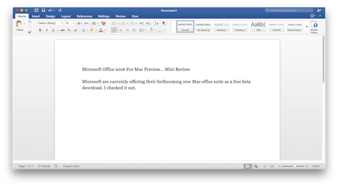 Microsoft Office 2016 For Mac Preview Mini Review Low End Mac